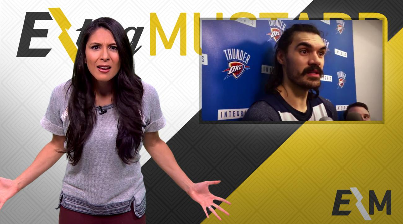 Mustard Minute: Thunder's Steven Adams says Stickum cause for Dwight Howard's low free throw percentage IMG