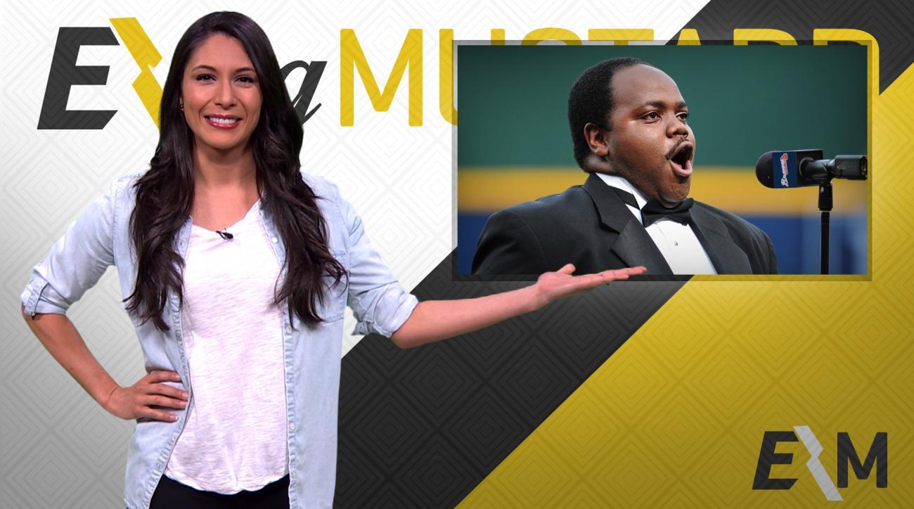 Mustard Minute: Opera singer Timothy Miller sings for Braves mascot race promo IMG