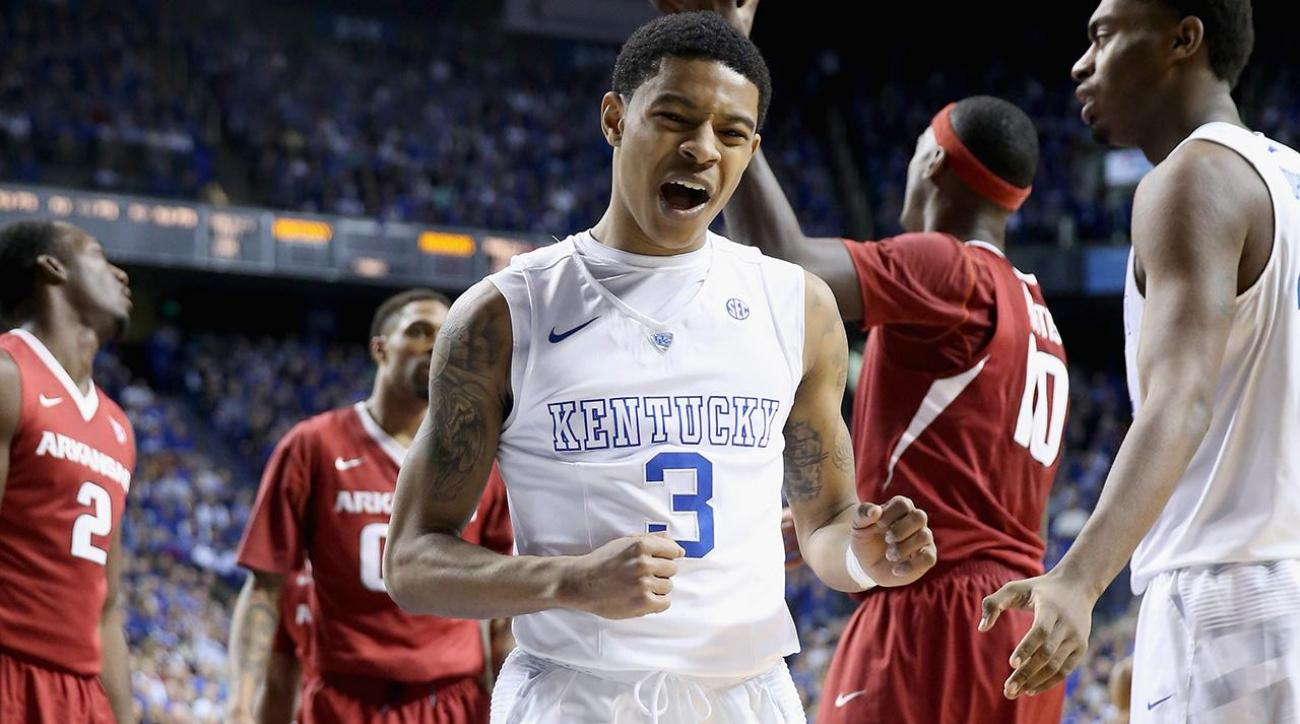 Kentucky sophomore PG Tyler Ulis declares for NBA draft, will hire agent IMAGE