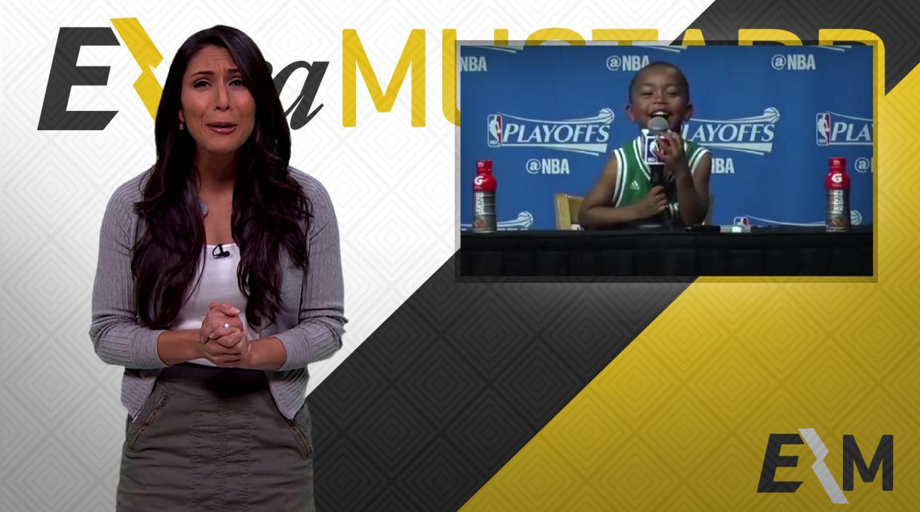 Mustard Minute: What did Isaiah Thomas's kid say at his presser? IMG