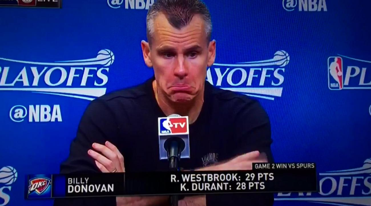 Mustard Minute: Billy Donovan has no idea what happened at the end of Thunder-Spurs game IMG