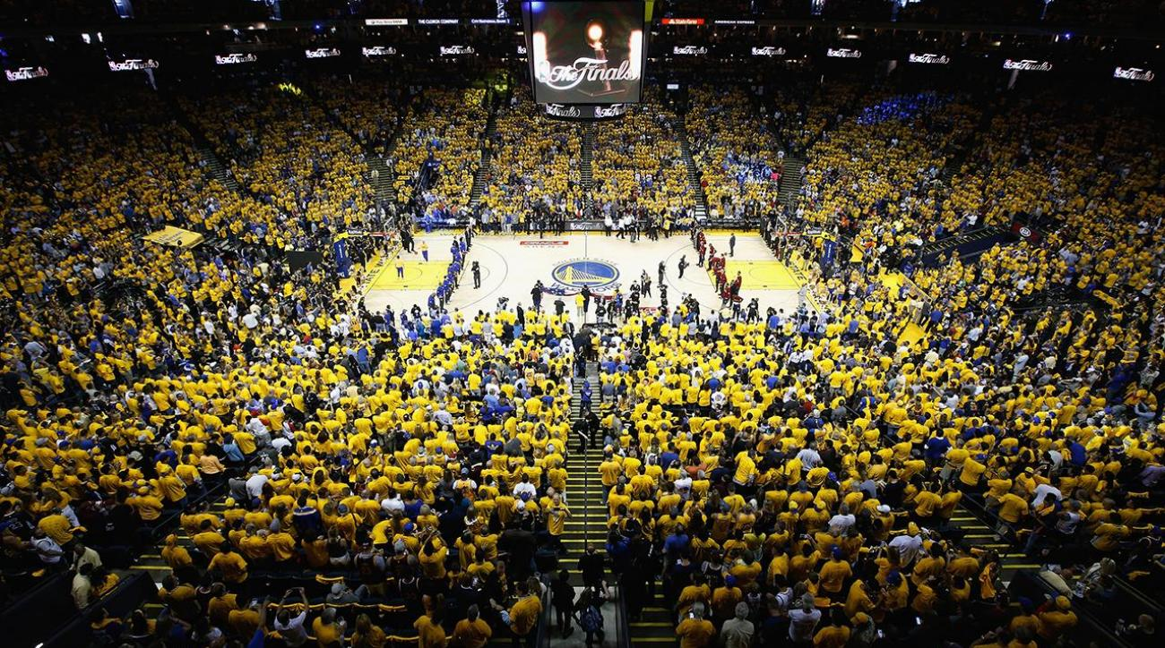 Fan falls from deck after NBA Finals Game 7