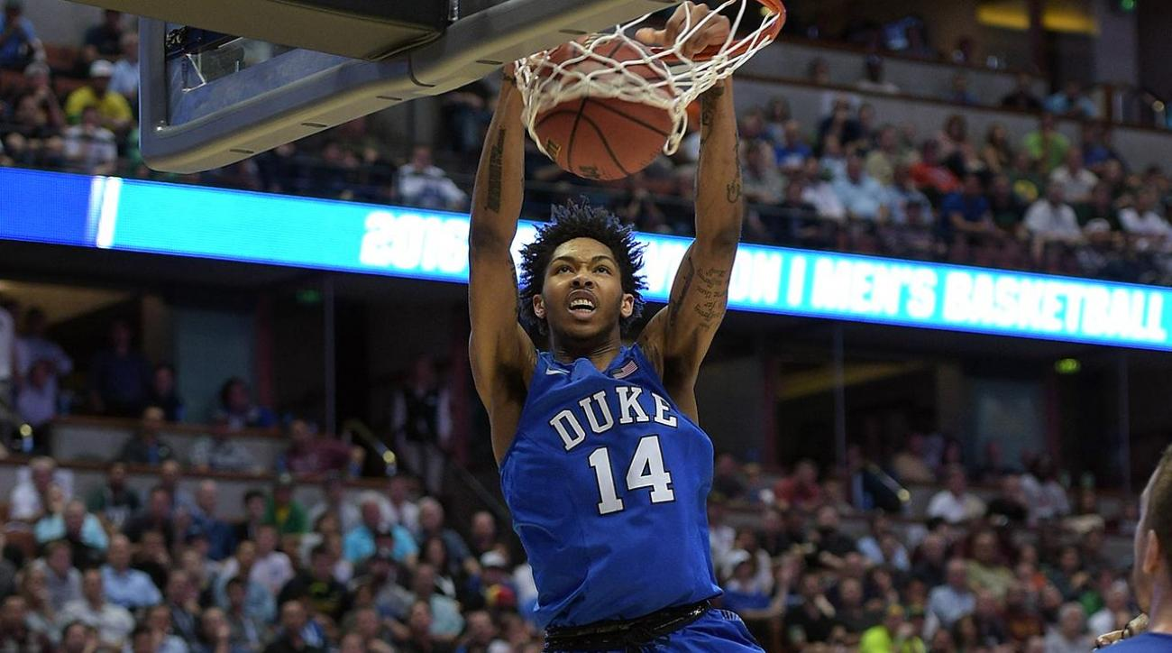 nba brandon ingram is the optimal draft pick for the philadelphia 76ers in 2016 Brandon ingram made his presence known to the nation by averaging 230 points in three games at the ncaa tournament, but the sweet-shooting freshman had been a pillar all year long for duke.