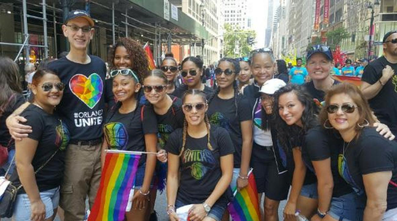 NBA, WNBA stand with LGBT community at NYC Pride Parade