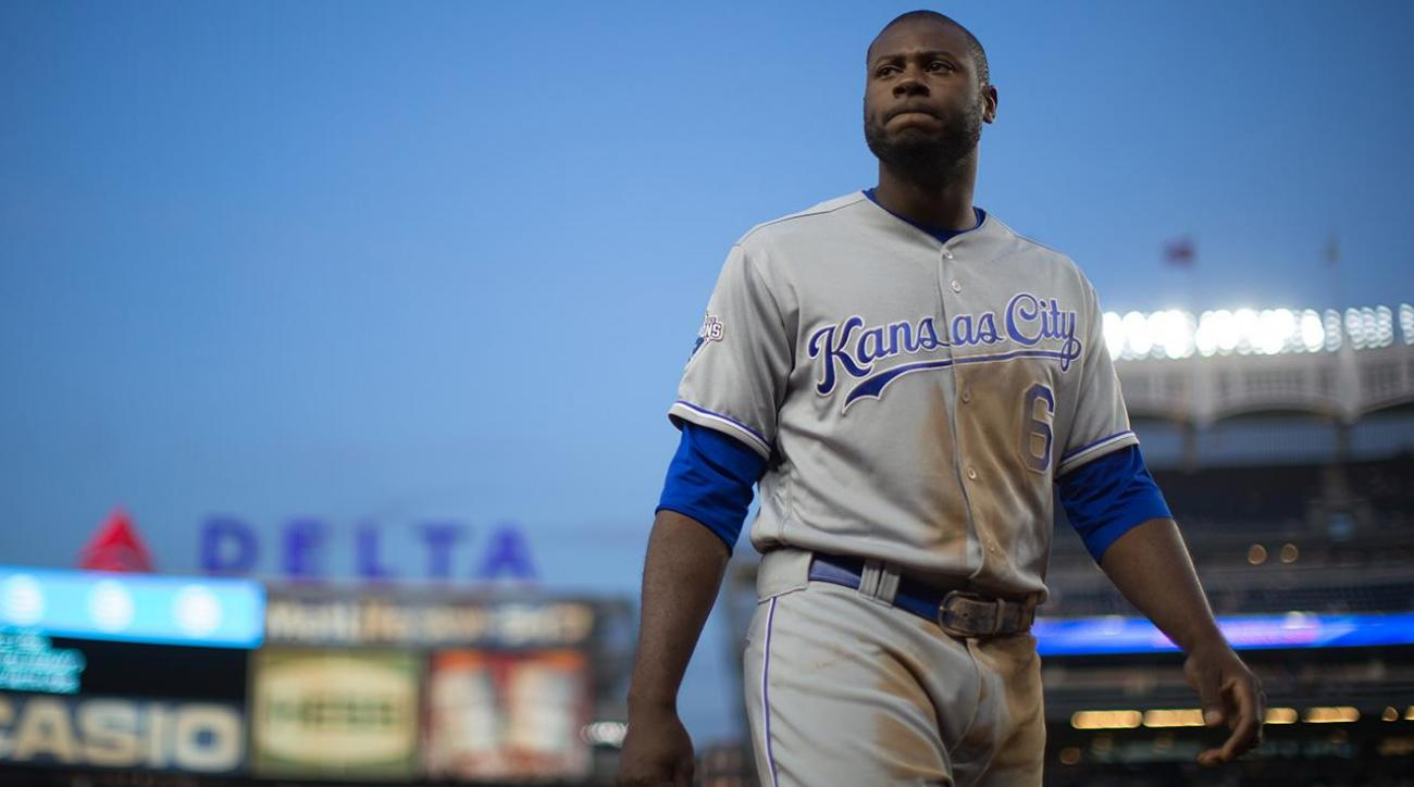 Royals place OF Lorenzo Cain on disabled list with strained hamstring IMAGE