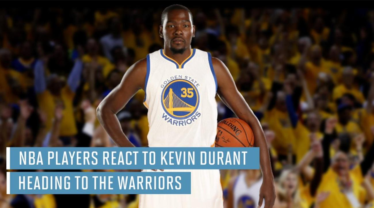 100% authentic 83a12 e9fed VIDEO - NBA players react to Kevin Durant heading to Warriors   SI.com