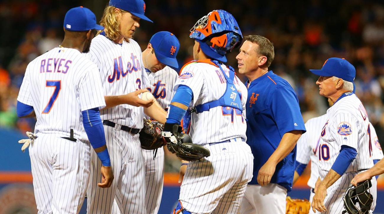 Cespedes, Syndergaard leave game with injuries