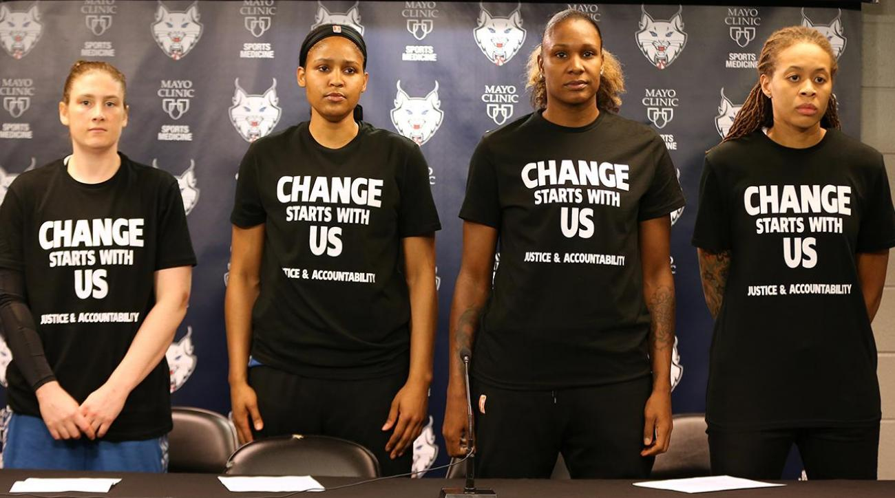 Minneapolis cops walk out of Lynx game over players' comments, shirts