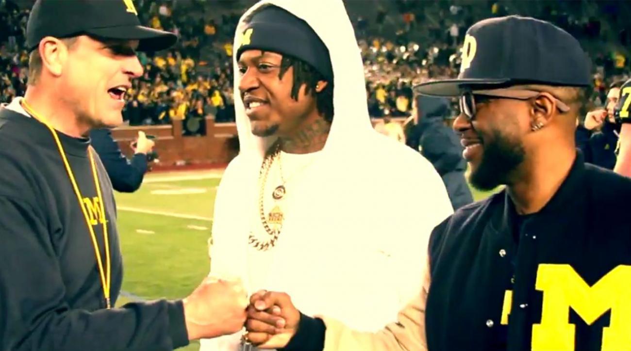 Michigan head coach Jim Harbaugh featured in rap video