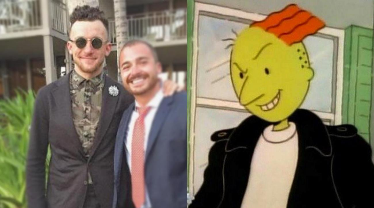 Mustard Minute: The internet compares Johnny Manziel's new hairstyle to movie and TV characters IMG