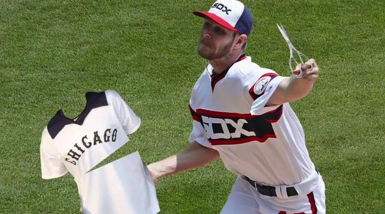 uk availability 95bd0 f2e73 White Sox suspend Chris Sale five days for jersey incident