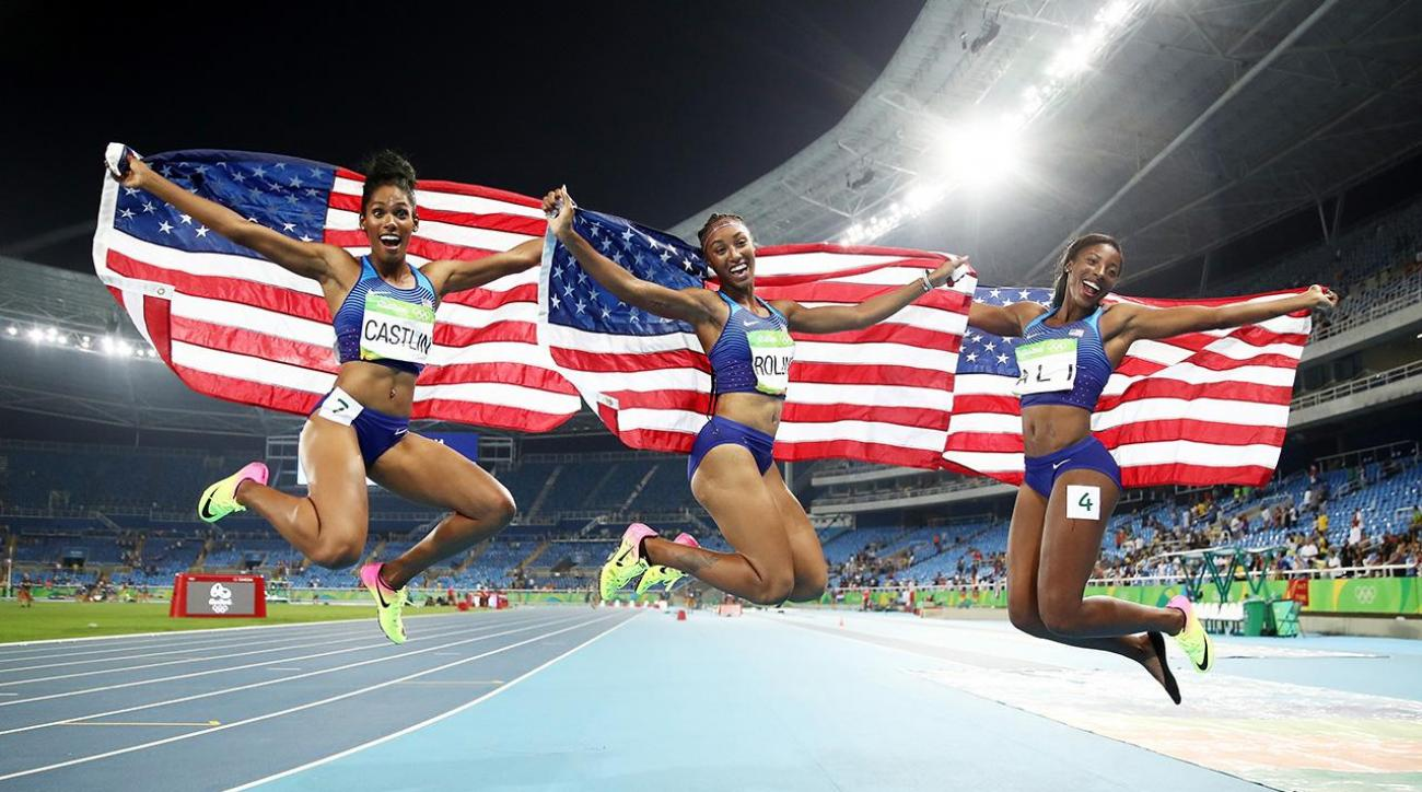 U.S. medals in the sand and makes history on the track IMAGE