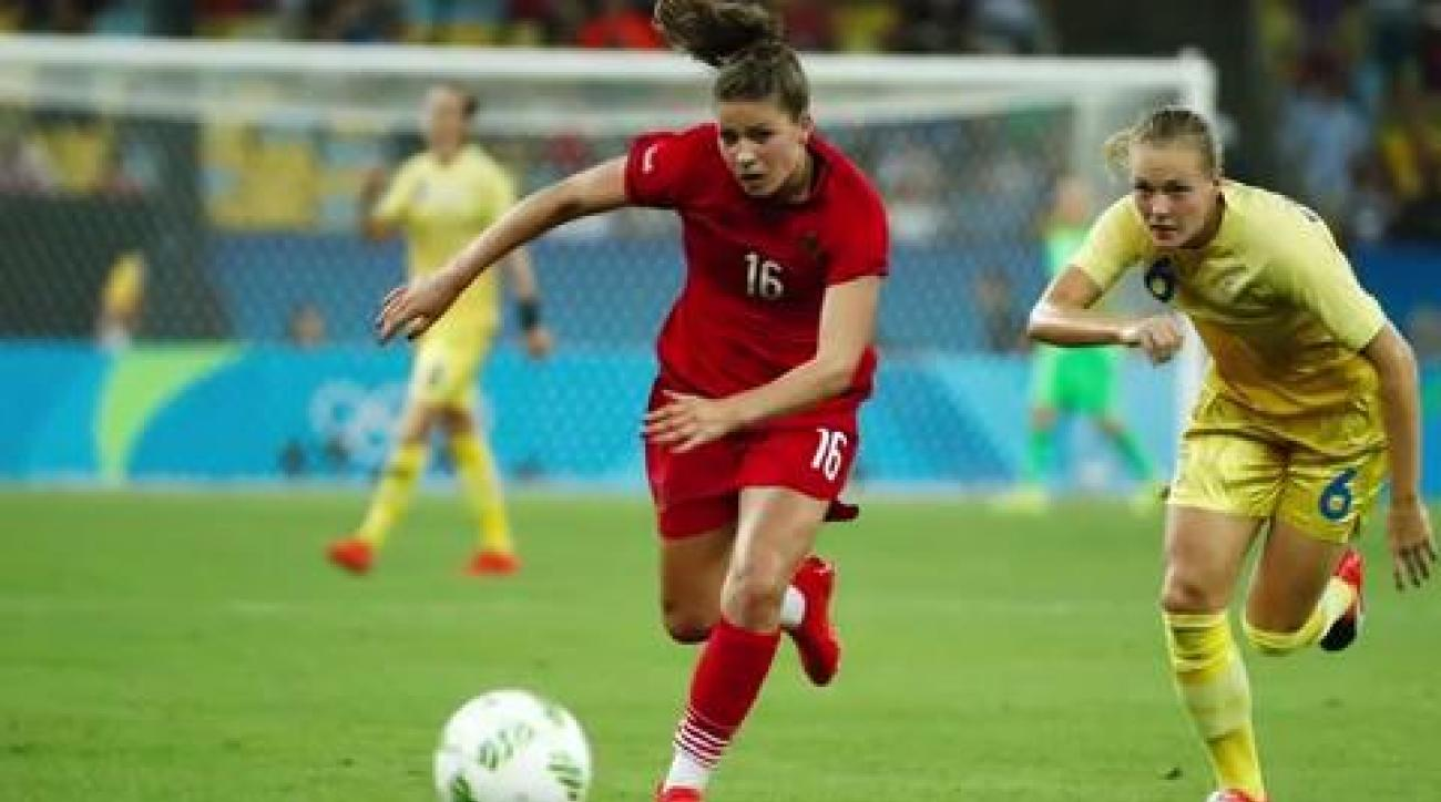 Germany holds off Sweden to claim women's soccer gold