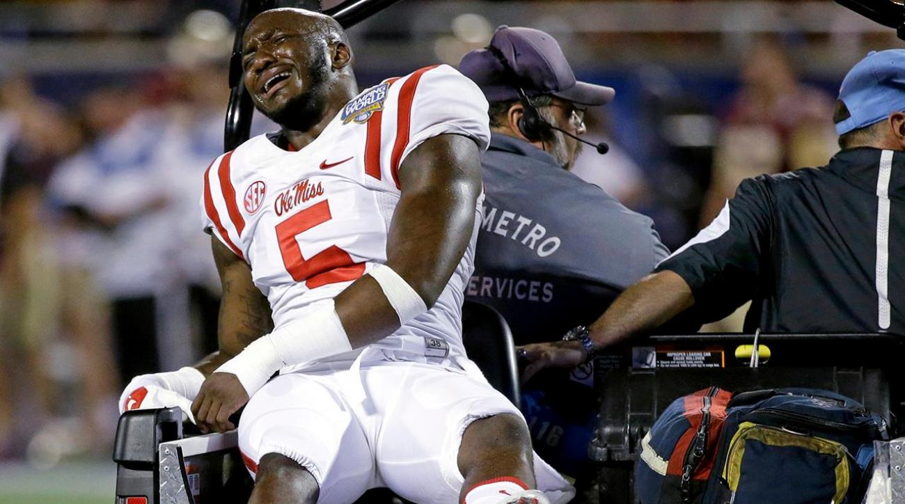 Ole Miss CB Ken Webster carted off with apparent knee injury