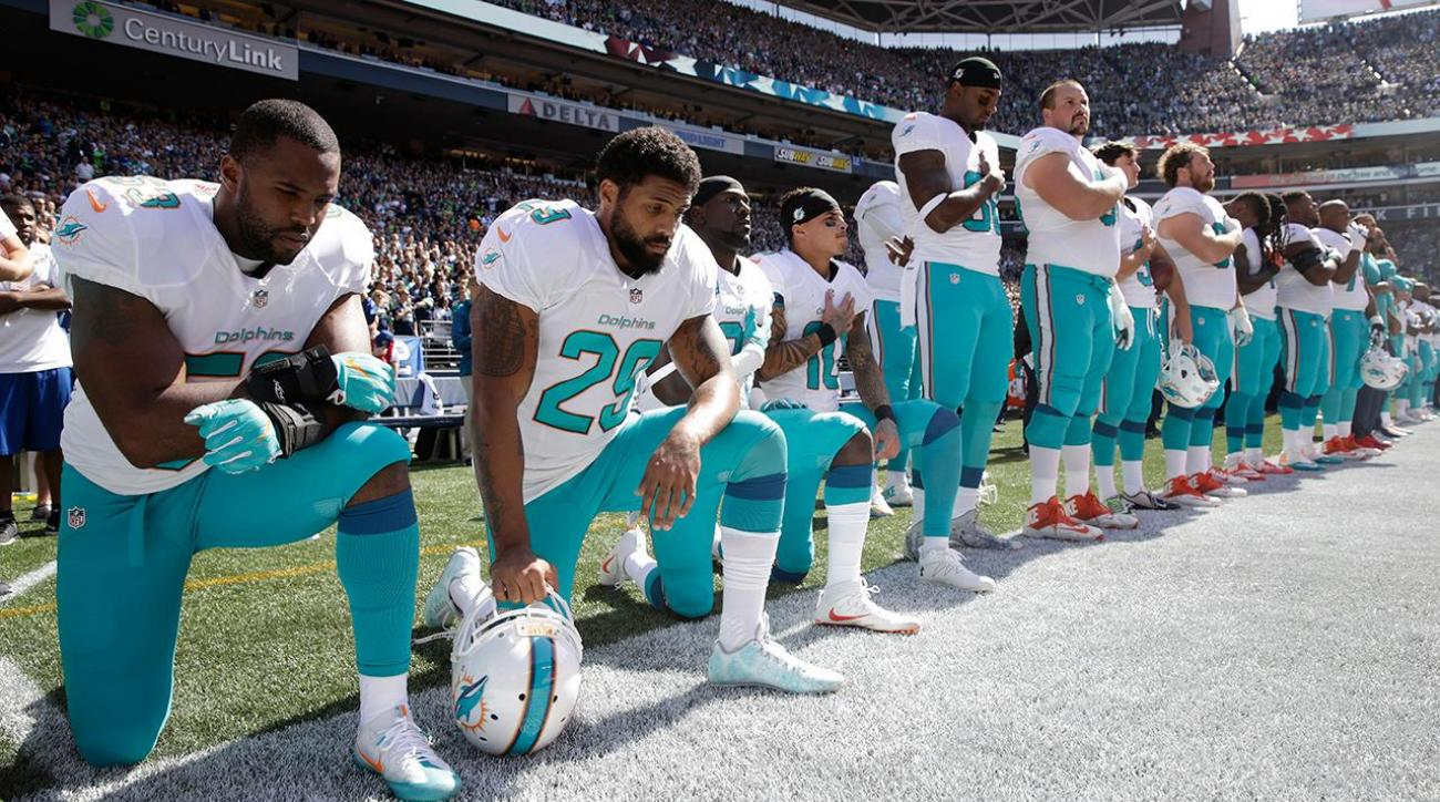 National anthem protests continue as NFL season kicks off
