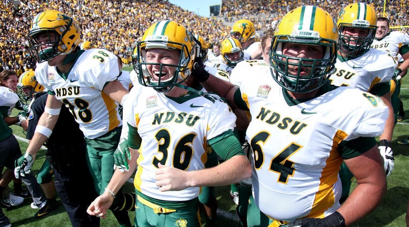 North Dakota State beats No. 13 Iowa for sixth straight FBS win