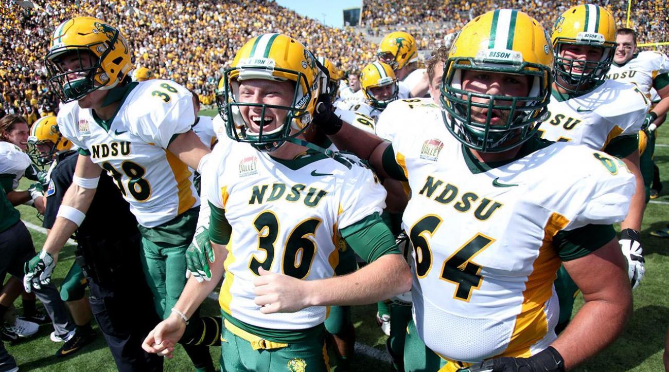 North Dakota State beats No. 13 Iowa for sixth straight FBS win