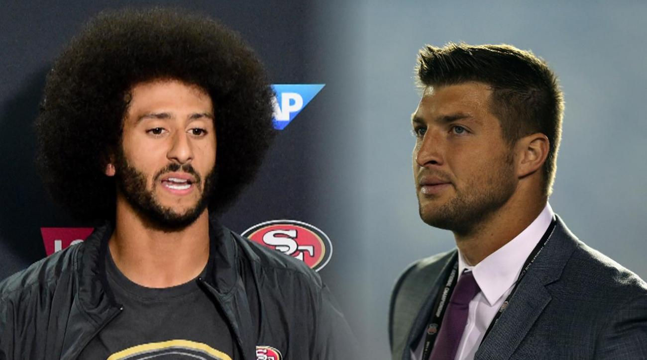 Tebow on Kaepernick protest: 'It's all about standing for it in the right way' IMAGE