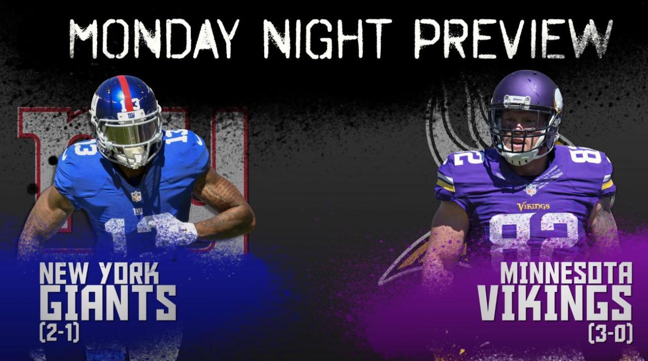 Monday Night preview: Giants vs. Vikings