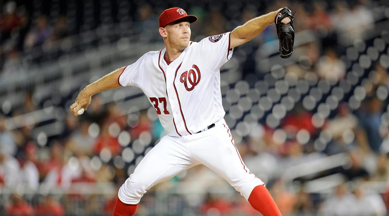 Stephen Strasburg ruled out of NLDS with elbow injury IMAGE