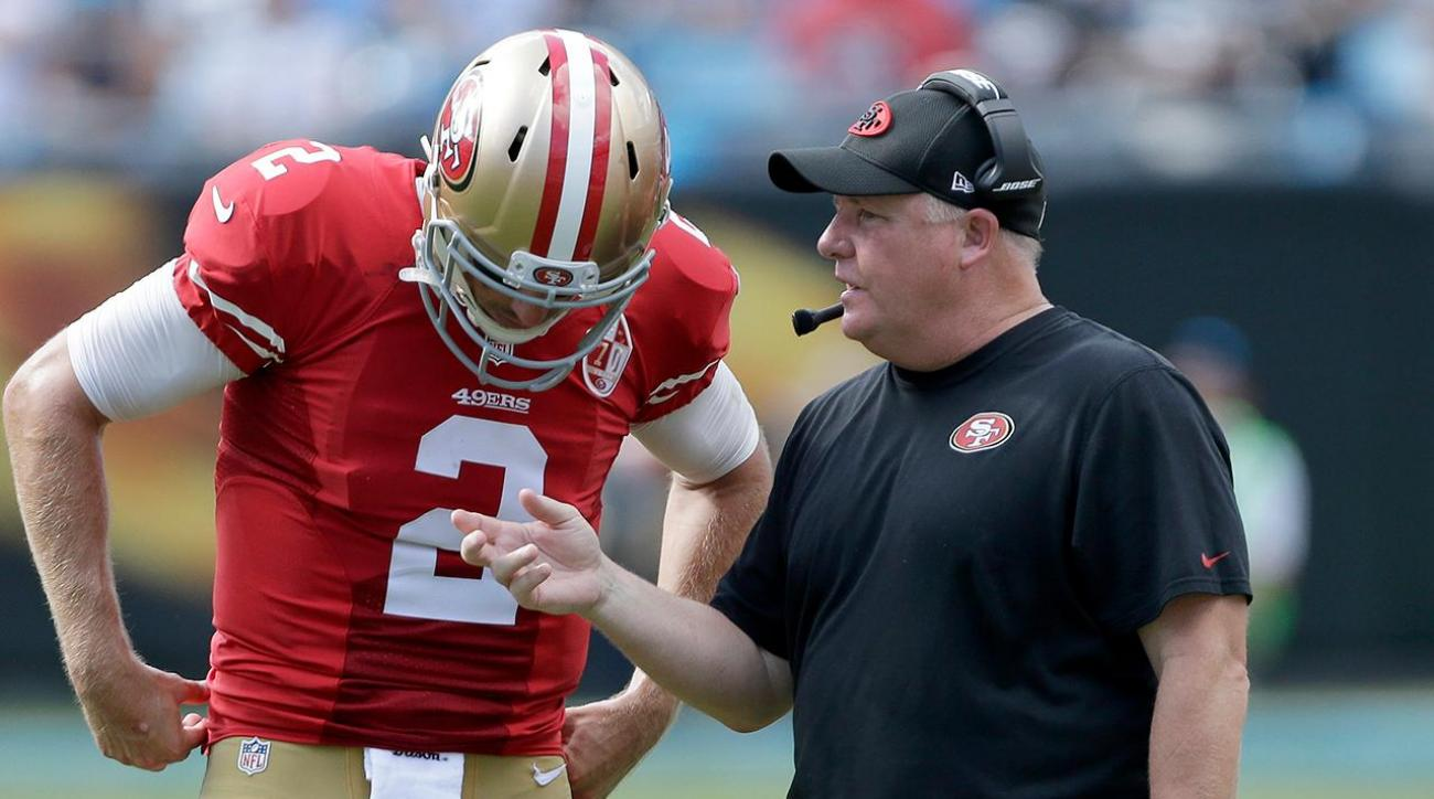 Chip Kelly says he will evaluate 49ers quarterback situation