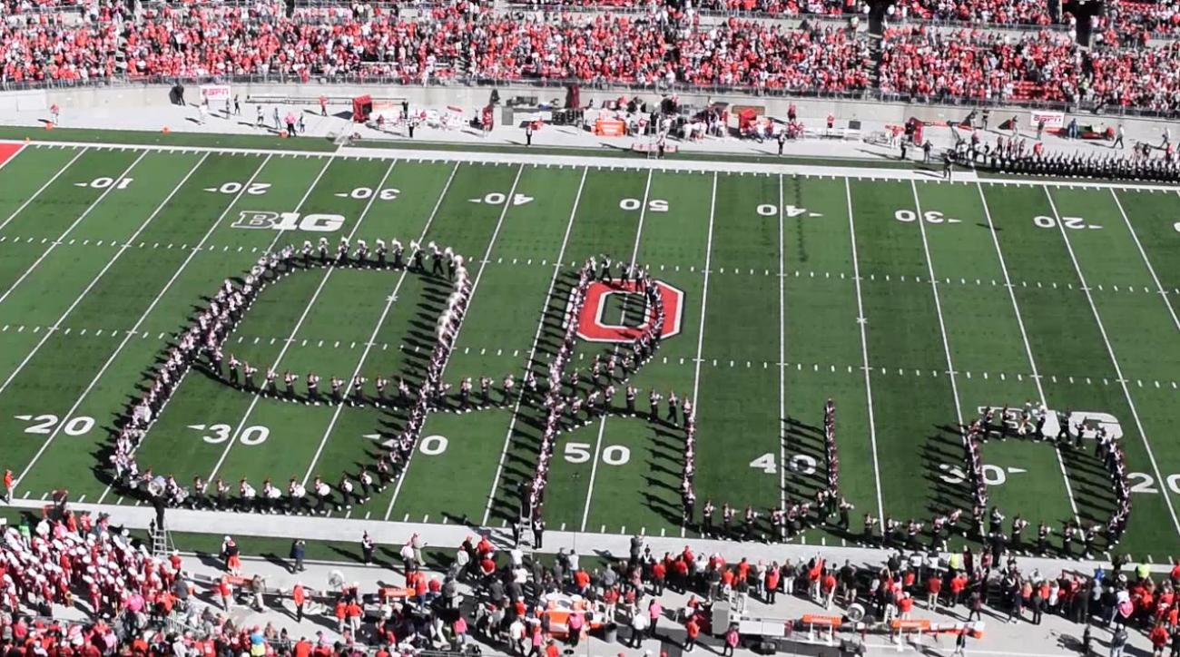 Go behind the formations with the Ohio State Marching Band