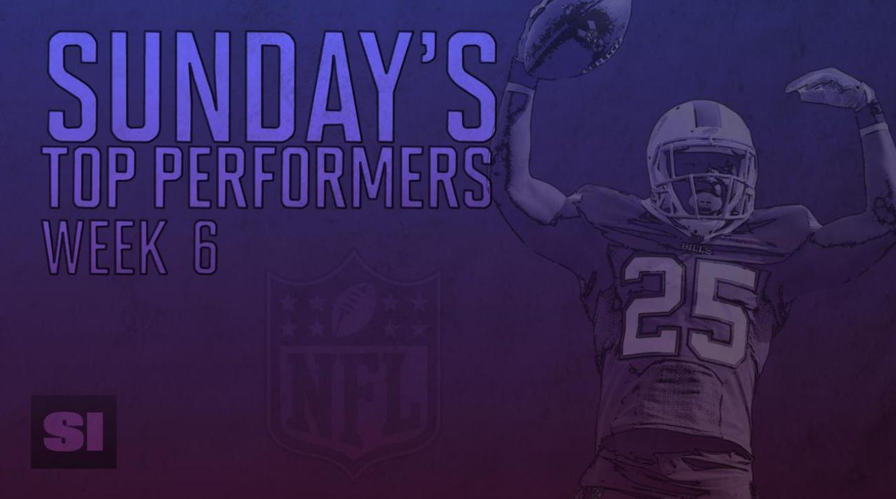 Sunday's Top Performers: Week 6