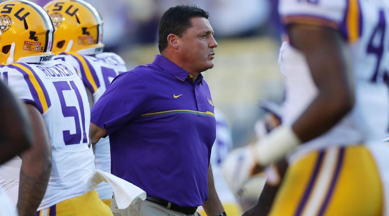 Alabama vs. LSU: What's on the line for Ed Orgeron?