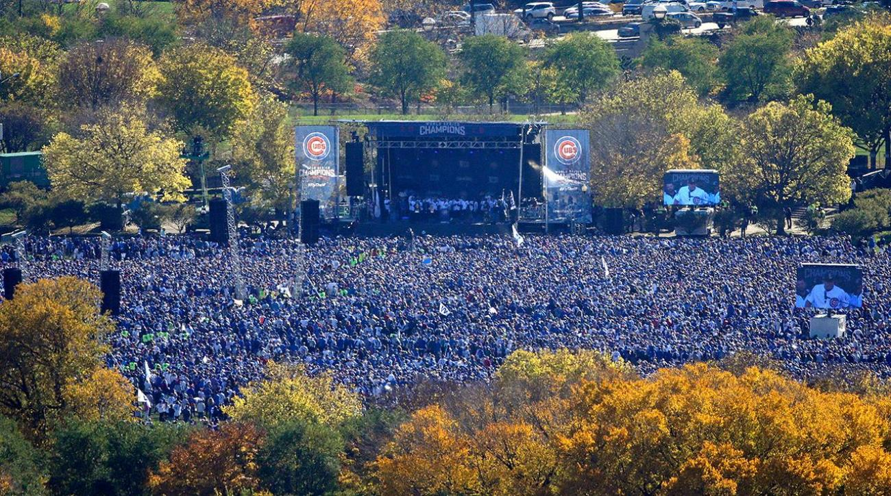 Cubs huge victory parade rally draws estimated five million