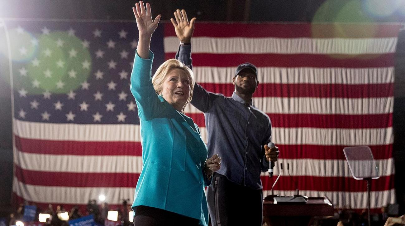 LeBron James campaigns with Hillary Clinton, encourages people to vote
