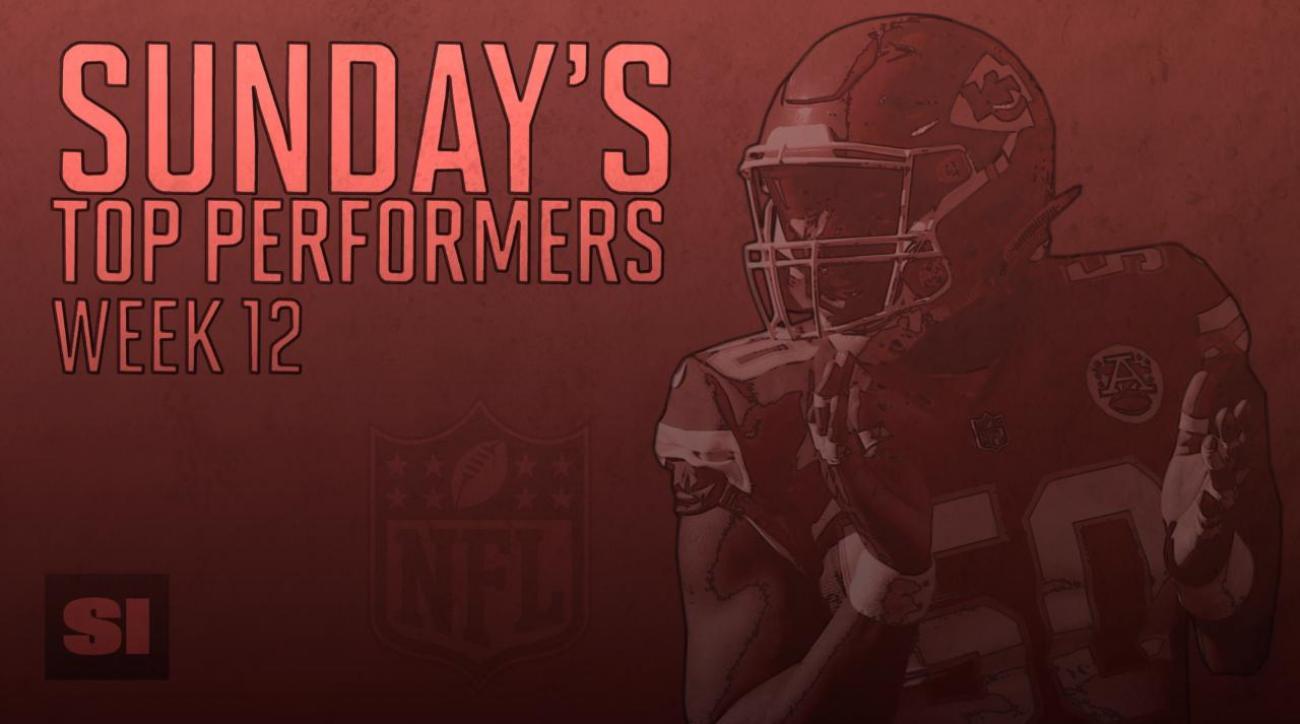 Sunday's Top Performers: Week 12