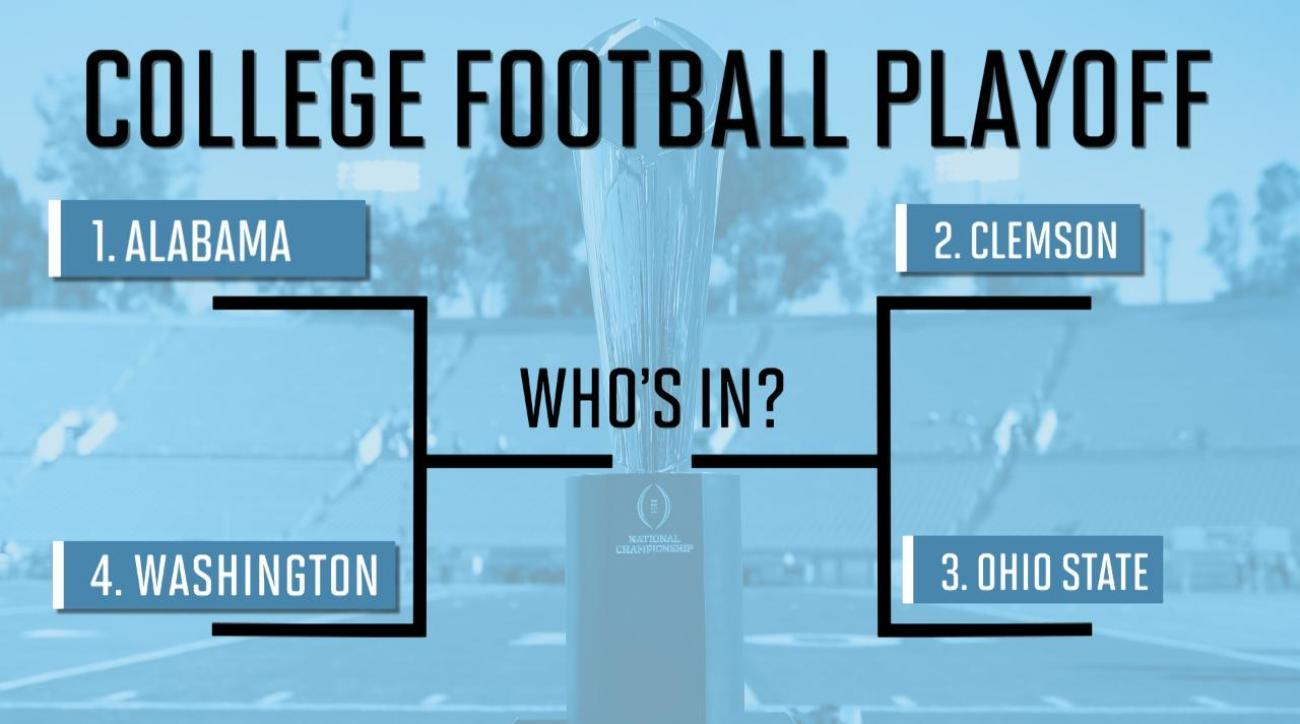 Alabama, Clemson, Ohio State, Washington get playoff nods