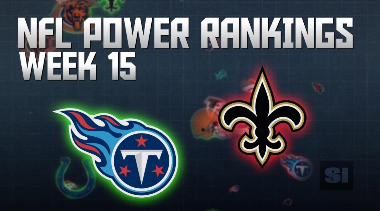 NFL Power Rankings: Week 15