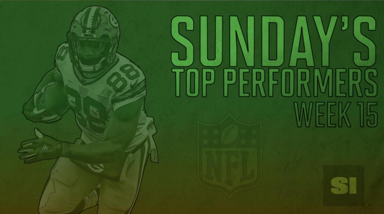 Sunday's Top Performers: Week 15