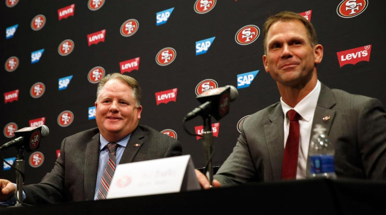 Report: 49ers expected to fire coach Chip Kelly, GM Trent Baalke