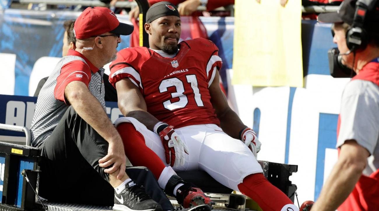 David Johnson carted off with apparent knee injury