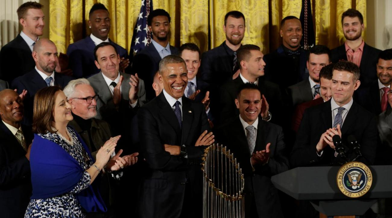 President Obama welcomed Cubs to White House with jokes