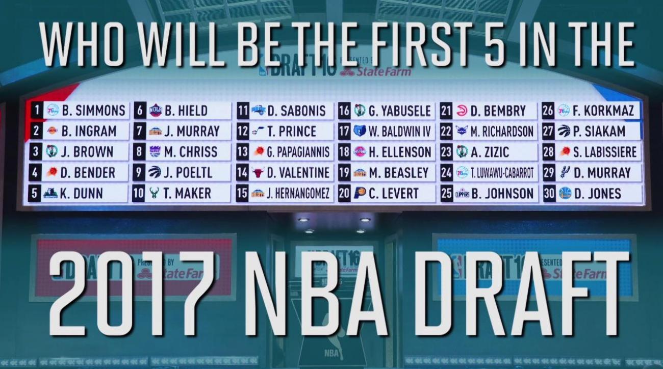 2017 NBA Mock Draft 1.0: Top five prospects