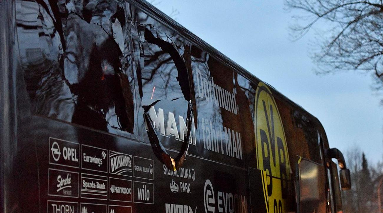 Borussia Dortmund soccer team bus hit by explosions in Germany