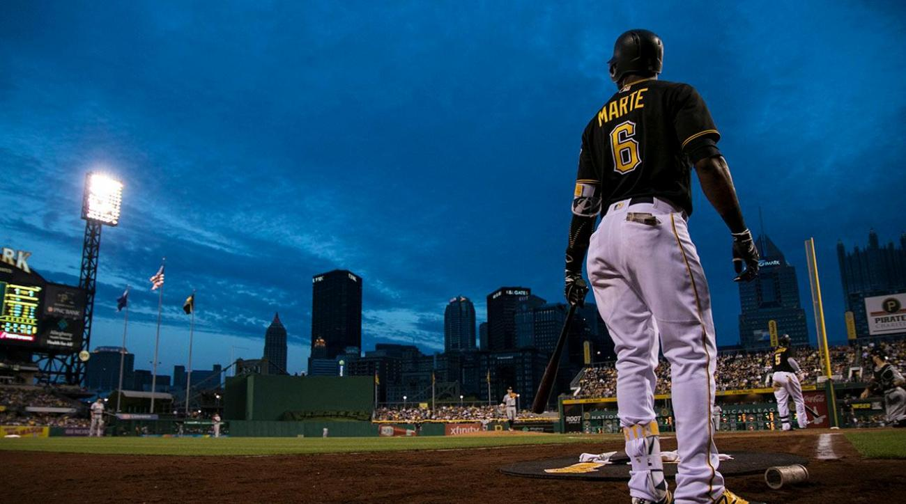 Pirates OF Starling Marte suspended 80 games for PED use IMAGE