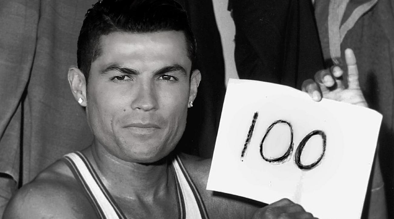 Real Madrid's Cristiano Ronaldo becomes the first to score 100 Champions League goals