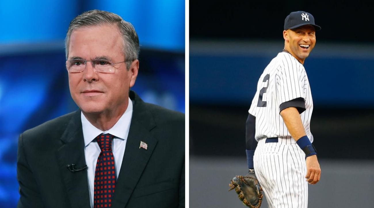 Derek Jeter reportedly teaming up with Jeb Bush to buy Marlins IMAGE