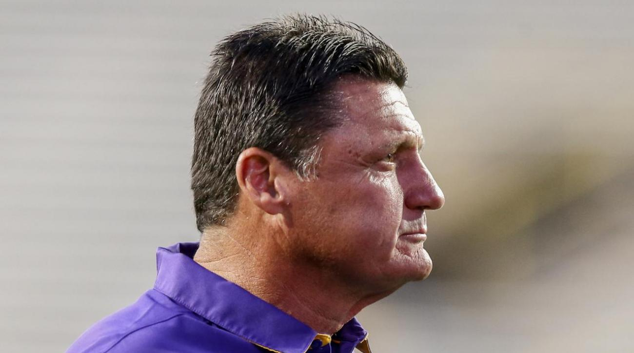 LSU Coach Ed Orgeron Drinks Enough Caffeine To Harm A Normal Man