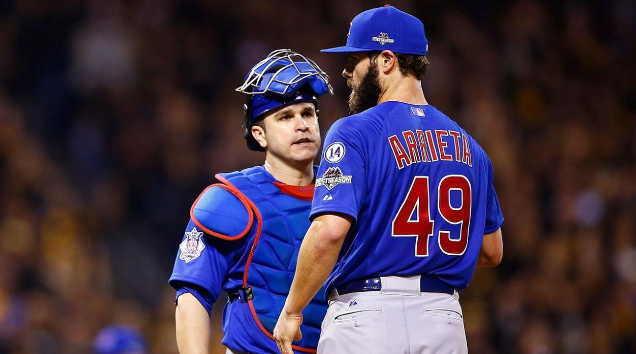 Miguel Montero blames Jake Arrieta after Nationals steal seven bases on him