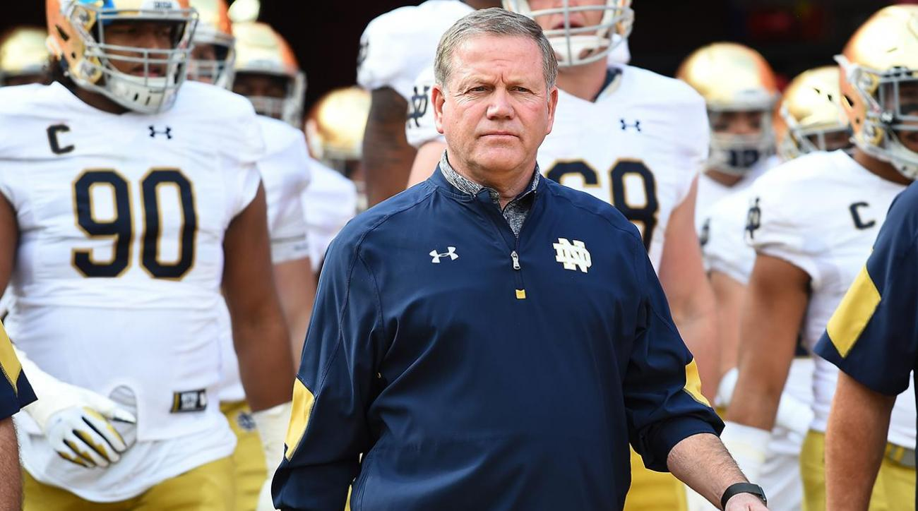 Brian Kelly Blames Fundraising In Part For Notre Dame's Struggles Last Year IMAGE