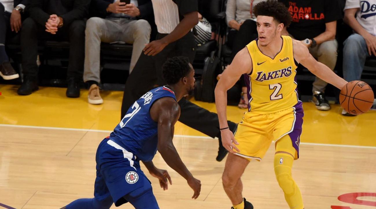 Patrick Beverley Shuts Down Lonzo Ball in NBA Debut