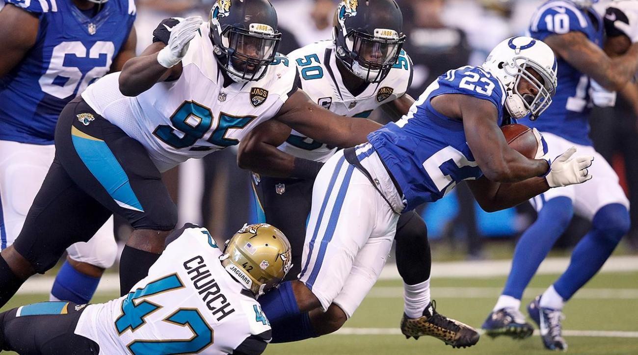 T.Y. Hilton Calls Out Colts' Offensive Line After Giving Up 10 Sacks in 27-0 Loss to Jaguars