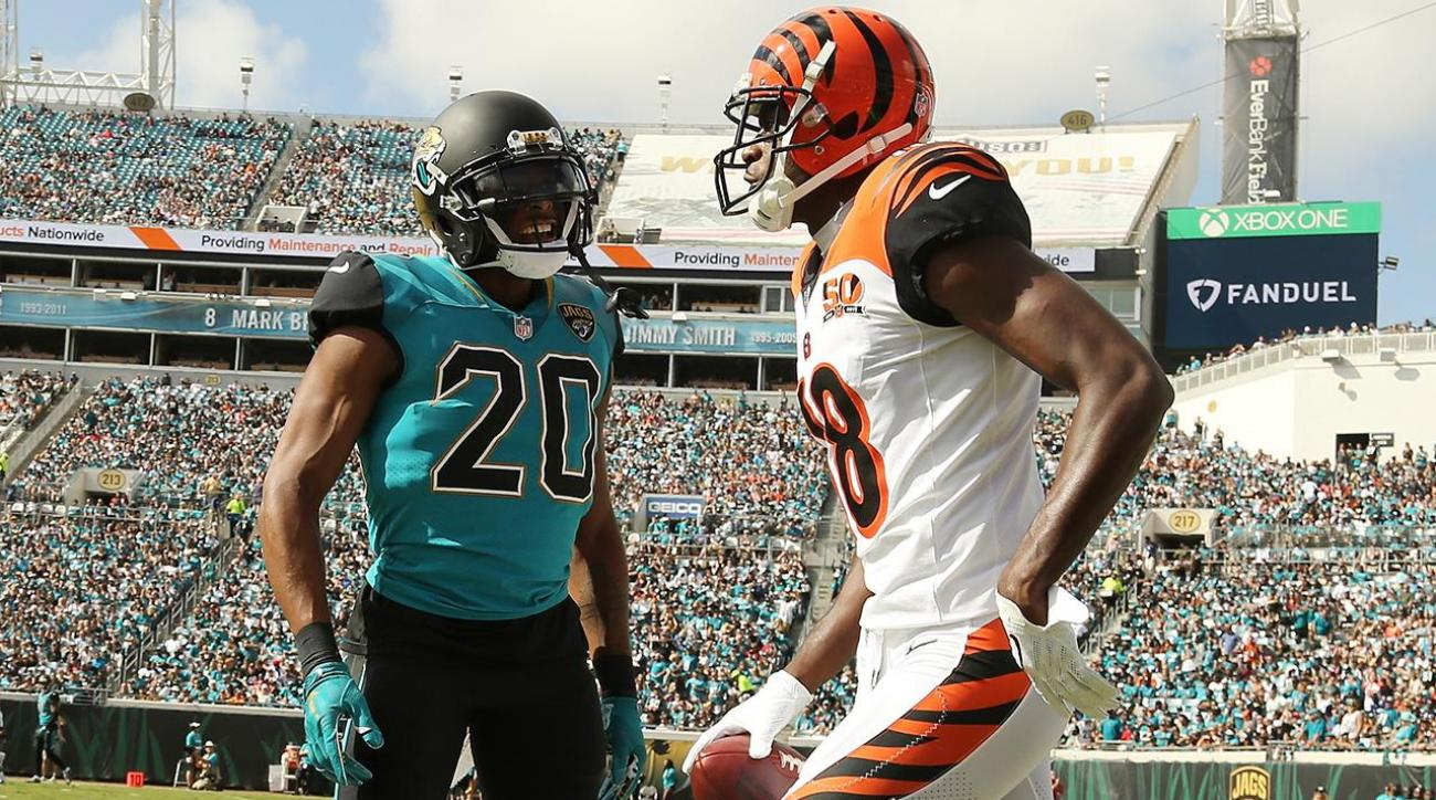 AJ Green Jalen Ramsey fight Bengals WR and Jaguars CB ejected