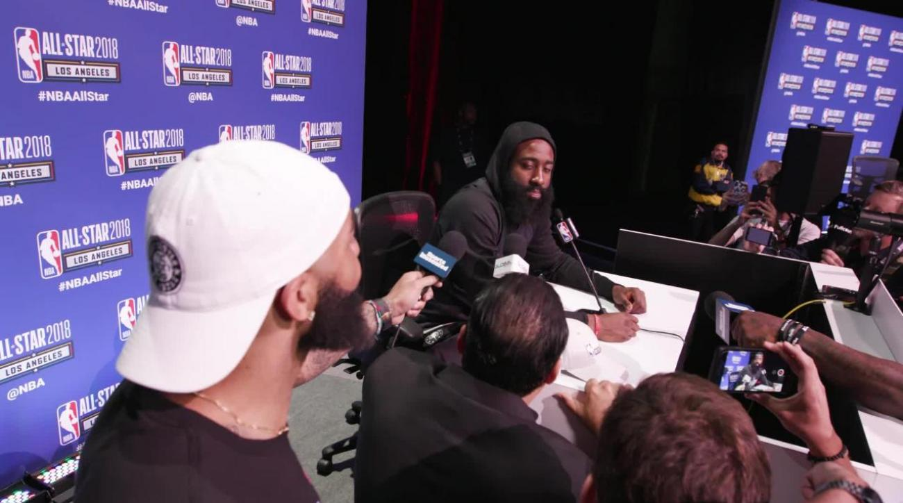 dabef43d8ae James Harden on the All-Star Game in LA and Beards at All-Star Media Day