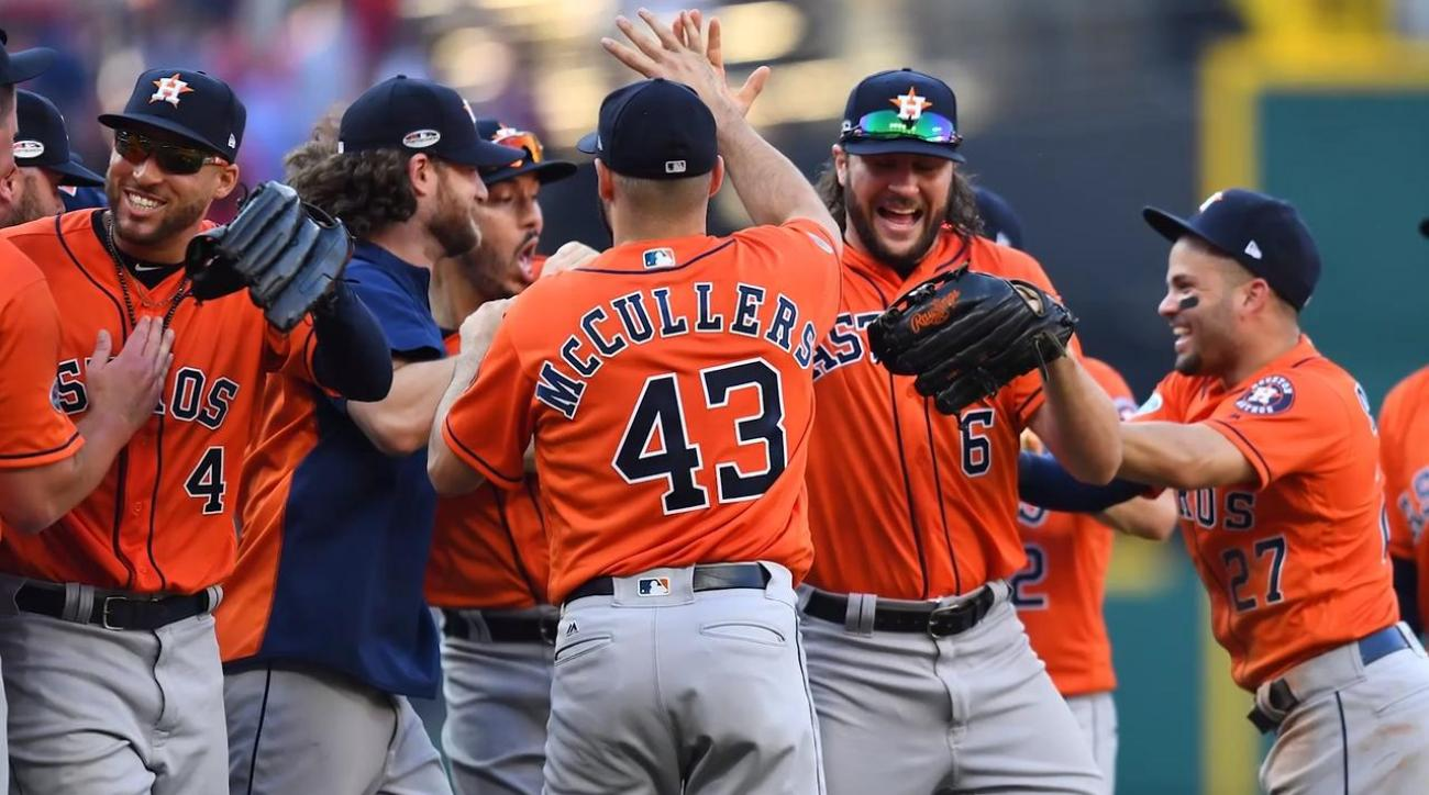 Astros Complete Sweep Of Indians, Await Red Sox-Yankees Winner